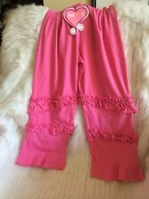 mim-pi Little Girls Frilly Flared Leggings Shocking Pink Age 7 122 Cm