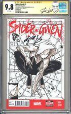 SPIDER-GWEN #1 NICK BRADSHAW SKETCH COVER SS CGC 9.8