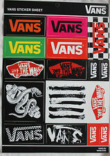2 x AUTHENTIC NEW VANS STICKER SHEET - 32 in total (includes 'off the wall')
