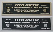 Tito Ortiz UFC nameplate for signed mma gloves photo or case