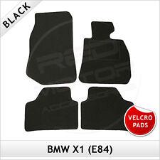 BMW X1 E84 2009-2015 Velcro Pads Tailored Carpet Car Floor Mats BLACK