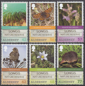 Alderney 2016 Longis Nature Reserve Set Unmounted Mint