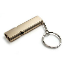 Keychain Outdoor Survival Whistle Double Pipe High Decibel Emergency Whistle LJ
