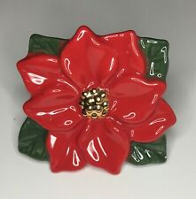 Nora Fleming - Retired Mini Poinsettia - Christmas Flower