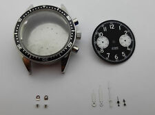S.STEEL CHRONOGRAPH CASE DIAL HANDS LUMINOUS FOR MOVEMENT SEAGULL TY 2901-ST1901