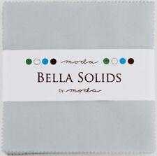 "Zen Grey Moda Bella Solids Charm Pack 42 5"" Precut Cotton Quilt Squares"