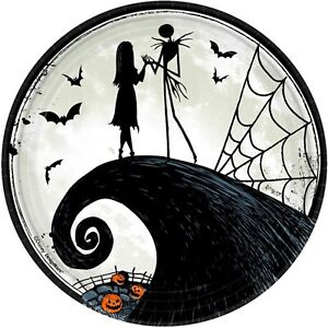 Nightmare before Christmas Party Dinner Plates Jack Skellington Halloween Party