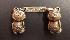 Misha Bear Key Ring Fob Mascot Moscow Olympics 1980. Soviet.