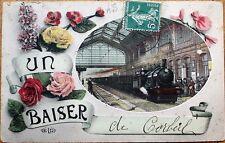 Corbeil, Marne, Vitry-le-François, France 1912 Railroad Depot Fantasy Postcard