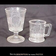 1875-84 EAPG Richards & Hartley Cupid and Venus Pattern Glass Spooner Mug