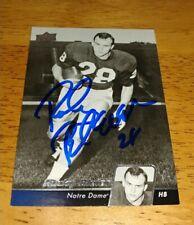 Steelers Legend  ROCKY BLEIER Autographed 2011 UPPER DECK  Card - NOTRE DAME