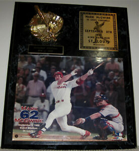 Mark McGwire 62nd Home Run Baseball Wood Plaque- St Louis Cardinals