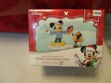 Disney Department 56 Merry Christmas Village Mickey's Autograph Clock