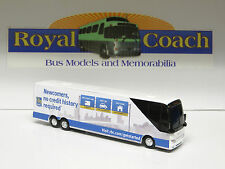 """REDUCED Royal Bank of Canada  Prevost H Diecast 8-1/2"""" Bus - 1:64 Scale S Gauge"""