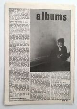 JOHNNY THUNDERS 'So Alone' album review 1978 UK ARTICLE / clipping