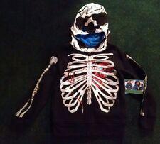 New Boys Video Game Skull Skeleton Zombie Gamer Hoodie S 6/7 Black Jacket