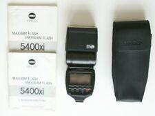 Aufsteck- Systemblitz MINOLTA 5400xi Programm Flash BTA 1ter Hand