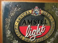 Beer Mirror Sign Amstel Light Frame..Classic Offers Welcome