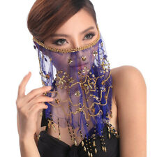C12  Bauchtanz Perlen bestickte Gesichtschleier Gesichttuch Gesichtdeckel