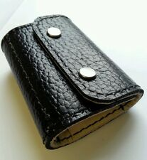.22 hornet/ 17HMR/ 17 Hornet  Bullet wallet. Black/cream real leather with studs