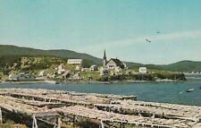 "*Canada Postcard-""Fishing Village of Cloridorme"" /Drying Racks for Gaspe Dry Cod"