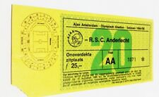 used ticket AJAX Amsterdam - ANDERLECHT Brussels 1994/95