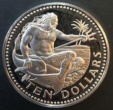 Barbados - Silver 10 Dollar Coin - Poseidon - 1978 - Proof