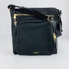 TUMI NWOT Voyageur Carmel Black/Gold Nylon Crossbody Travel Bag