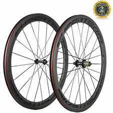 Lightweight Wheels 700C Clincher 50mm Carbon Wheelset Superteam Bicycle Wheels