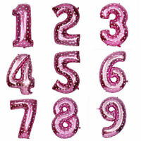 """40"""" Giant Pink Foil Number 1 Balloon Girls Birthday Party Decorations One Sign"""