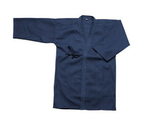 Japanese Kendo Keikogi Jacket, Martial Arts 100% Cotton Kendogi Navy Blue Jacket
