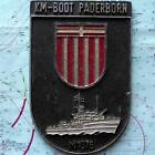 KM - Boot Padderborn German Navy Ship Metal Tampion Plaque Crest