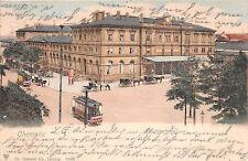 Chemnitz Sachsen Hauptbahnhof Strassenbahn gelaufen 1905