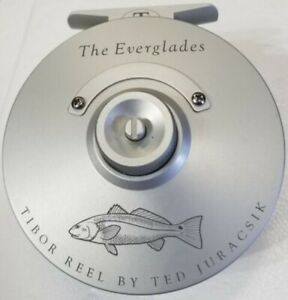 NEW TIBOR EVERGLADES IN FROST SILVER WITH REDFISH ENGRAVING #7-9 WT FLY REEL