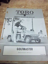 TORO GOLFMASTER~90110~PART LIST~Manual~ELECTRICAL PANEL~WIRING DIAGRAM~SPECS