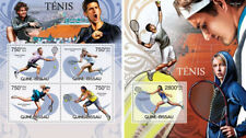 Tennis Nadal Sharapova Federer Djokovic Sports Guinea-Bissau MNH stamp set