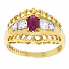 Handmade Yellow Gold Plated Cubic Zirconia Fashion Rings