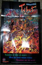 "Rare 1995 Dimension Comics MISSIONS IN TIBET 22"" x 34"" promo poster"
