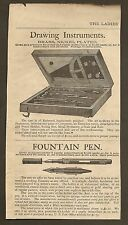 VINTAGE AD DRAWING INSTRUMENTS AND FOUNTAIN PEN PREMIUMS