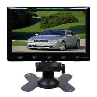 """Ultra Thin 9"""" Inch TFT LCD Color 2 Video Input Car Rear View Monitor HD 800X480"""