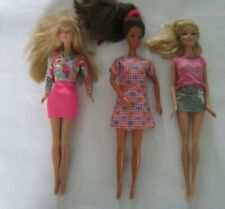 3 vintage barbie dolls with outfits 1990 & 1998