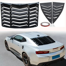 Quarter Side Rear Window Louver Scoop Accessories fit Chevy Camaro 2010-2015 ABS