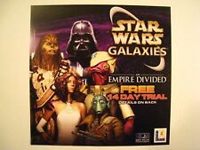 "STAR WARS GALAXIES: An Empire Divided ""Lucas Arts"" Promotional Flyer 2004 SDCC"