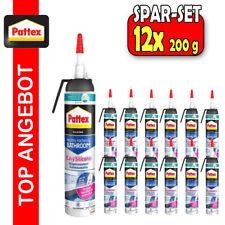 12x Pattex Silikon Bad Sanitärsilikon Küchensilikon Fuge Dichtstoff 200ml