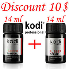 BEST PRICE! 2 pcs. 14ml. Kodi Professional - Gel LED/UV Rubber TOP + Rubber Base