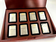 ZIPPO Weltwunder Set 7 x Feuerzeug XXXX/1000 Limited Edition in Lift Up Holzbox