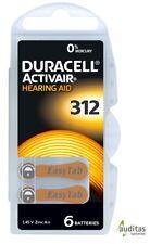 60 Duracell ActivAir - Hörgerätebatterien/Hearing Aid Battery Typ 312 MF NEU