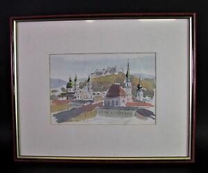 Igor Radovan ZINDOVIC (*1955) - SALZBURG Altstadt und Festung - Galerierahmung