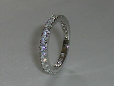 Art Deco Style Ladies 925 Silver Brilliant Cut White Sapphire Full Eternity Ring