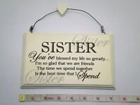 Blessed Sister Wall Plaque Birthday Gift Ideas for Sisters, Her